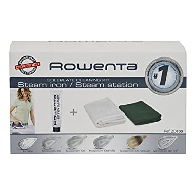 Rowenta ZD100 Non-Toxic Stainless Steel Soleplate Cleaner Kit for Steam Irons