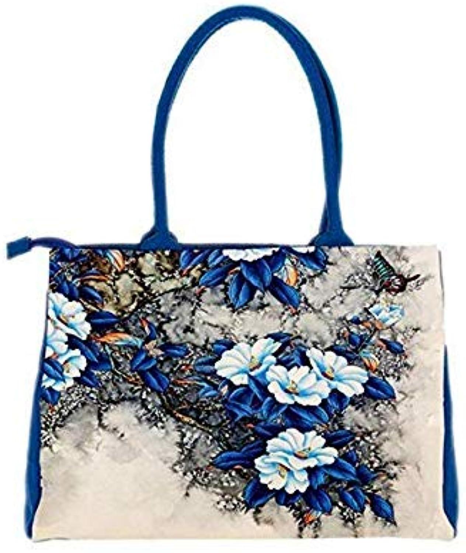 Bags Handbags Women Digital Printing Beautiful Floral Canvas Shoulder Bags Bag Female A6