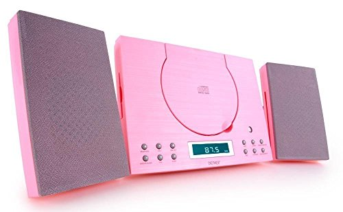 Denver  MC-5010 Musik-Center (CD-R/RW, AUX-In, Wandhalterung, Weckerradio) rosa