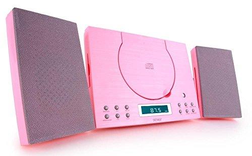 Denver Muziekcentrum (CD-R/RW, AUX-In, wandhouder, wekkerradio) roze