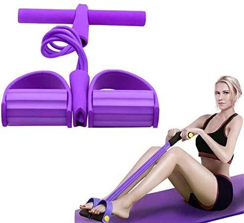 Outtybrave Attrezzo multifunzione a 4 tubi, per esercizi di fitness, esercizi di allenamento per addominali, corda elastica per la trazione, per il fitness, per cosce, muscoli e addominali