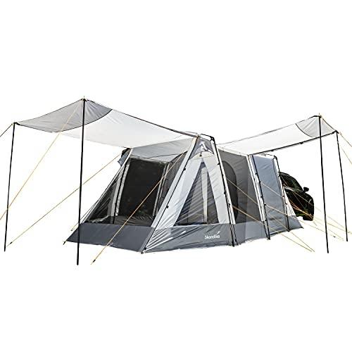 Skandika Pitea XL Up - Tienda de campaña para Coches para 4 Personas - con Cabina para Dormir - 2,3 m de Altura - Impermeable - 3000 mm de Columna de Agua