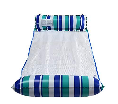 HSY SHOP 2 Piezas Flotadores de Piscina para Adultos, Flotador de Agua para Adultos, Flotador de Hamaca Multiusos 4 en 1 para sillón de Piscina (Color : Sky Blue)