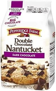 Pepperidge Farm Double Chocolate Nantucket Dark Chocolate Chunk Crispy Cookies 7.75 oz. (Pack of 4) by Pepperidge Farm