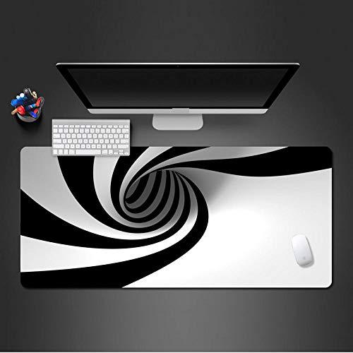 70 *30Cm Schwarz Und Weiß Whirlpool Kunst Mauspad Super Hd Druck Gute Qualität Waschbar Mousepad Spiel Spieler Matte Zu Gaming Kunst Mauspad