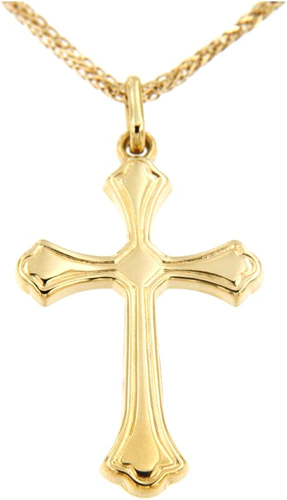 Lucchetta,collana per uomo con pendente a forma di croce in oro giallo 14kt/585(3,1 gr) CR2218-MV25;AU;585;G;18;50;C;