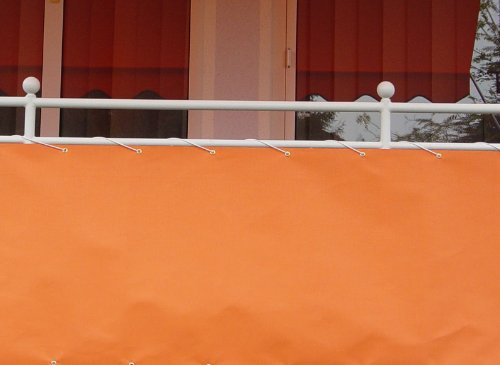 Angerer - Toldo Lateral para balcón (75 cm x 6 m), Color Naranja