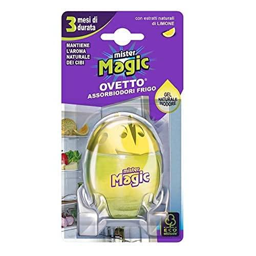 Mister Magic Ovetto Assorbiodori Frigo con Estratti Naturali di Limone e 3 Mesi di Durata