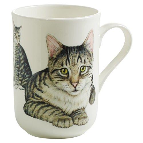 Maxwell & Williams Pets Europäisch Kurzhaar Katze, Geschenkbox, Porzellan, PB0712 Becher, grau, weiß, 10.5 x 7.5 x 10.5 cm