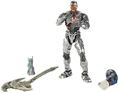 Mattel FHG09 - DC Multiverse Collector-Figur Justice League Movie Cyborg, 15 cm