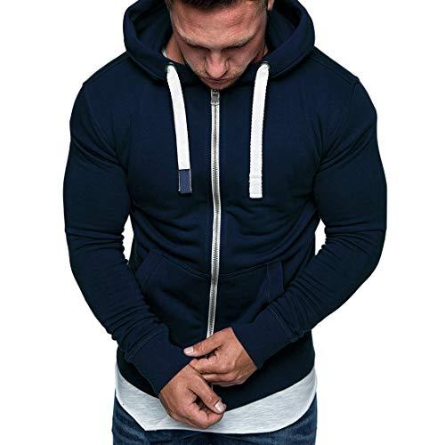 Hoodie Men Fashion Design Zipper Drawstring Sport Style Sweatshirt Autumn New Comfortable Slim Men Hooded Jacket with Pockets L