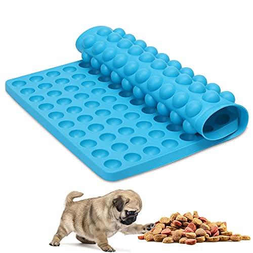 KOIROI 1 Stück Silikon Backmatte, Backmatte Silikon Hundekekse 2cm Halbkugel Silikonmatte, Backform für Hundekekse & Hundeleckerlies, Pralinenform, Backpapier, Backunterlage, Antihaftend (Blau)