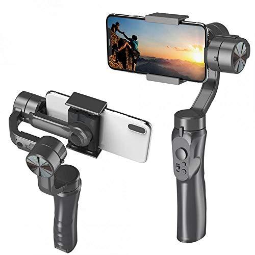 Womdee Gimbal Stabilizzatore per Smartphone, Gimbal Stabilizer, Stabilizzatore palmare a 3 Assi, Cardanico Stabilizzatore Gimbal per Vlog Video Fluidi Registrazione, Compatibile con Smartphone