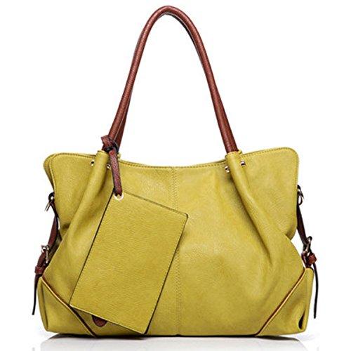 Women Picture Package 3 Pieces Shoulder Bag Handbag - (Color.: Light Green)