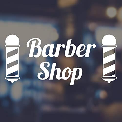 Letras de vinilo para decoración de pared de peluquería con diseño de letreros para decoración de pared, decoración de salón, decoración de habitación extraíble, decoración de barbería