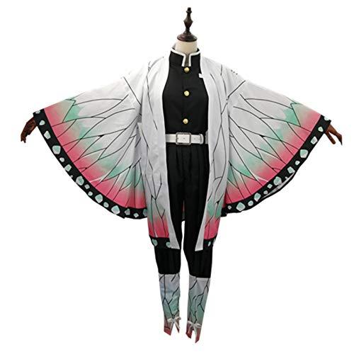 Nobranded Dämonentöter: Kimetsu No Yaiba Halloween Cosplay Uniform, Anime Cosplay Kostüm Für Frauen Männer Komplettset, Mantel + Top + Hose + Gürtel + Leggings