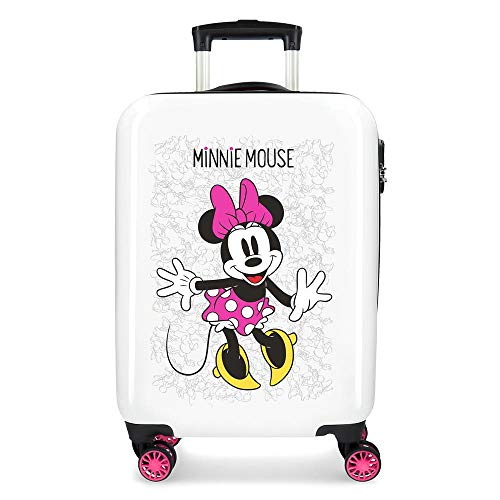 Disney Enjoy The Day Valigia per bambini 55 centimeters 34 Bianco (Blanco)