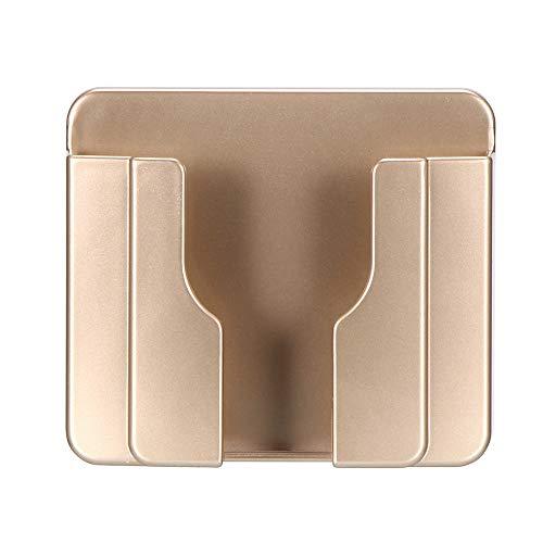 Soporte para teléfono de pared, soporte adhesivo para cargador de pared para teléfono móvil y soporte para control remoto Caja de almacenamiento multiusos para teléfonos inteligentes Dorado