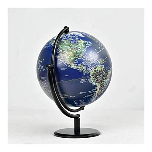 World Globe Illuminated World Globe For Kids,3D Tabletop Standing World Globes Built In LED Lights For Night Views,2-In-1 Educational Detailed World Globe Map,20cm/8inch (Size : 20cm8inch)