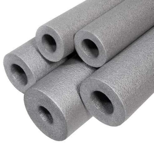 Rollo de tubo de espuma gris para aislamiento de tuberías de cobre y tubo de espuma | diámetro interior 28 mm (10 x 1 m, grosor de la pared: 6 mm)