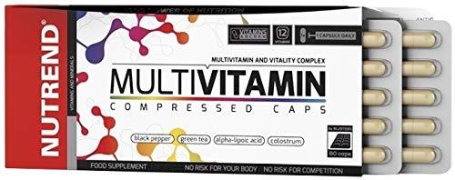 MULTIVITAMIN COMPRESS 60 Caps balanced diet and not only for active athletes Magnesium, Calcium, Zinc, Iron, Chromium and Selenium