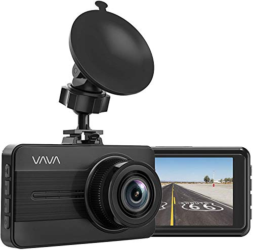 Dash Cam, VAVA 1080P Full HD Car DVR Dashboard Camera, Driving Recorder with 3 Inch LCD Screen, Motion Detection, Loop Recording