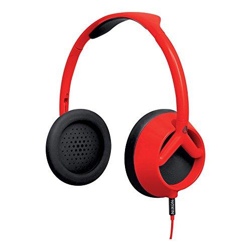 Nixon H009209-00 Trooper Over-Ear-Kopfhörer (112dB, 3,5mm Klinkenstecker) rot/schwarz
