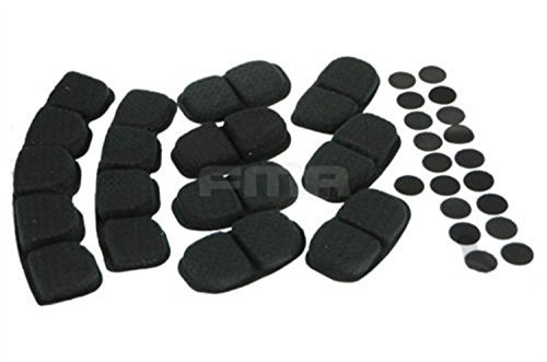 H World Shopping Tactical Upgraded Comfort Protective Helmet Cushion Memory Foam Pad Black