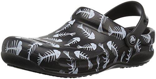 Crocs Crocs Bistro Graphic Clog, Unisex - Erwachsene Clogs, Schwarz (Black/pearl White), 45/46 EU