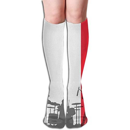 wwoman Kniestrümpfe Hohe Flagge Frankreich Laufband im Freien Athletische Socken lang Unisex