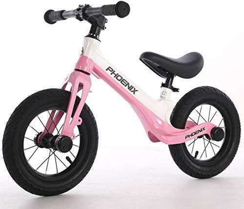 Bicicleta de Balance de la aleación de magnesio, sin Pedal, Asiento Ajustable para Bicicletas, Bicicleta de Entrenamiento Deportivo Ligero para niños de 2 a 6 años de Edad, Rueda de Aire