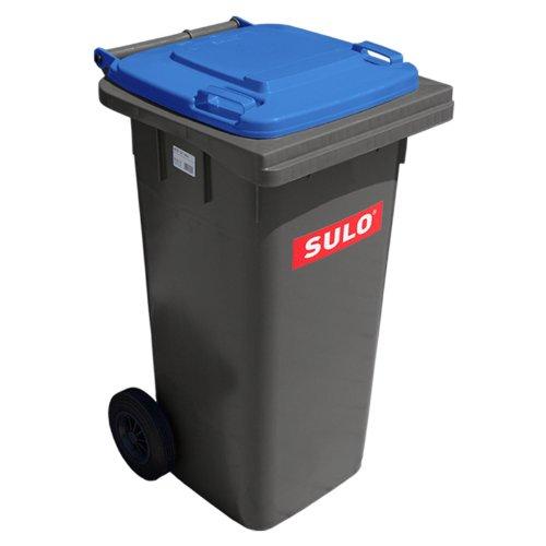 Preisvergleich Produktbild SULO Mülltonne MGB 120 grau mit Blauem Deckel
