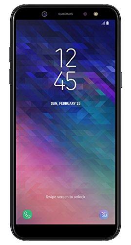 Samsung Galaxy A6 Smartphone (14,25 cm (5,6 Zoll) AMOLED Display, 32GB Interner Speicher und 3GB RAM, Dual-SIM, Android 8.0) Schwarz - German Version