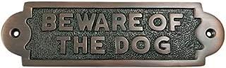 brass beware of dog sign