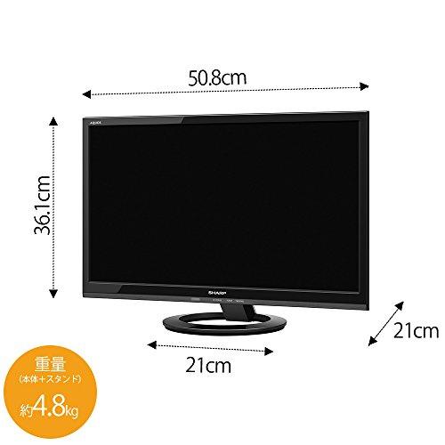 『シャープ 22V型 液晶 テレビ AQUOS LC-22K45-B フルハイビジョン 外付HDD対応(裏番組録画) ブラック』の2枚目の画像