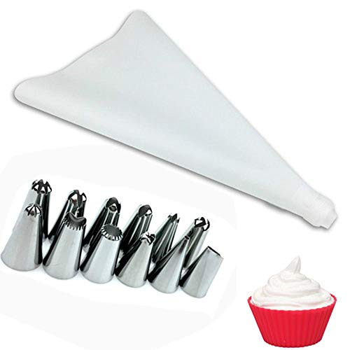 tuberías formación de hielo crema pastelera Bolsa de acero inoxidable convertidor inoxidable Boquilla extremidades de los pasteles Converter herramientas de bricolaje de azúcar que adorna