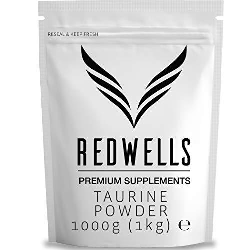 REDWELLS 1kg Pure Taurina Powder Sin aditivos de Aminoácidos