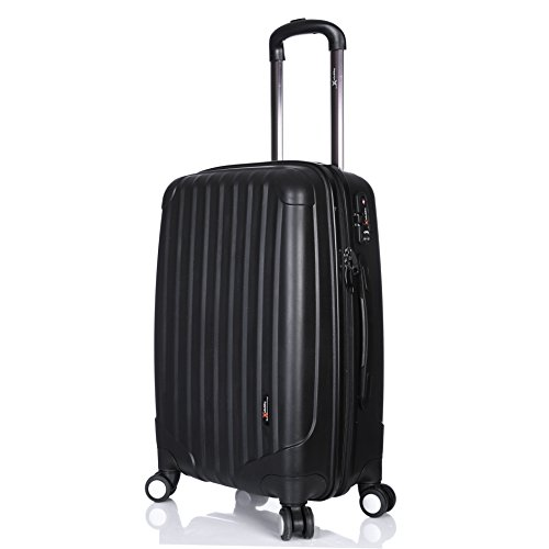 Virtually Indestructible Luggage X Black 60cm (24') Hard Shell Polypropylene Lightweight Trolley Suitcase