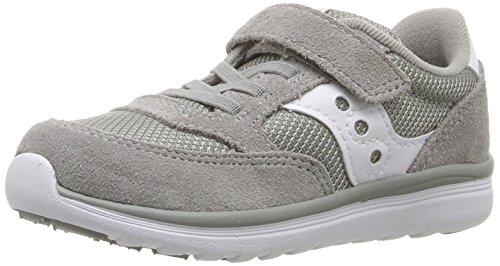 Saucony Jazz Lite Sneaker (Toddler/Little Kid/Big Kid), Grey/White, 4.5 W US Toddler