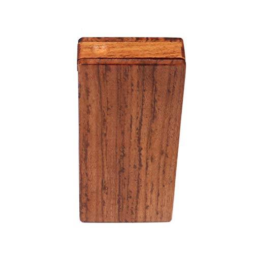 SJSJ Caja de Cigarrillos Cajas de Cigarrillos de Madera con Juego de Tubos (con Gancho de Limpieza) Caja de Cigarrillos de Madera Hecha a Mano