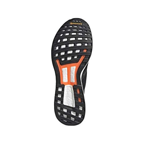 adidas Men's Adizero Boston 8 Running Shoe, Black/White/Grey, 12 M US 6