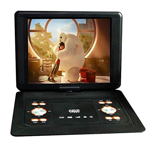 QAZ Portable DVD Player, Large Screen 23.8 Inch, 270 Degree Rotating Screen, Games, Rechargeable Battery, Supports SD Card and USB