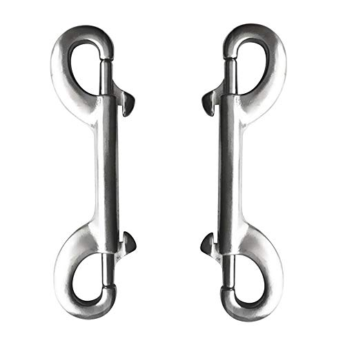 Sanmum Double Ended Stainless Steel Bolt Clips Snap Hook Keychain Key Holder Heavy Duty Metal Pet Collar