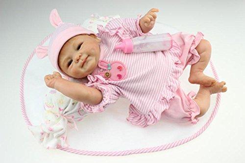 Nicery Reborn Bébé Poupée en silicone souple 18inch 45cm Magnétique beau jouet Lifelike Mignon Garçon Fille Sourire Rouge Baby Doll A3FR