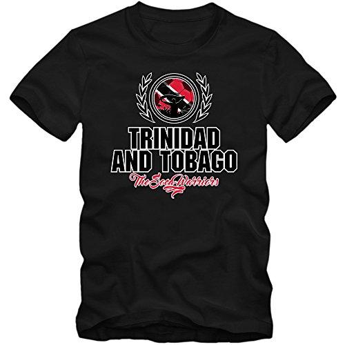 Calcio Trinidad E Tobago V2 Maglietta | Uomo | T-Shirt | Canottiera | The Soca Warriors | Jersey, Farbe:Schwarz (Deep Black L190);Taglia:Medium