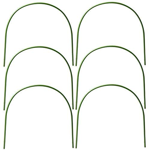 ZAILHWK Hoops for Garden,Greenhouse Hoops Wire Tunnel Hoops with Plastic Coated Hoops for Garden Fabric,Plant Support Garden Stakes