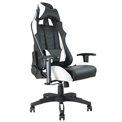 Waytex – bureaustoel met kuipstoel Racing Wit.