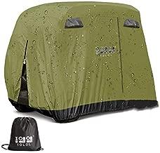 10L0L 4 Passenger Outdoor Golf Cart Cover,400D Waterproof Golf Cart Covers with Extra PVC Coating Sunproof Dustproof fits EZ GO Club Car Yamaha