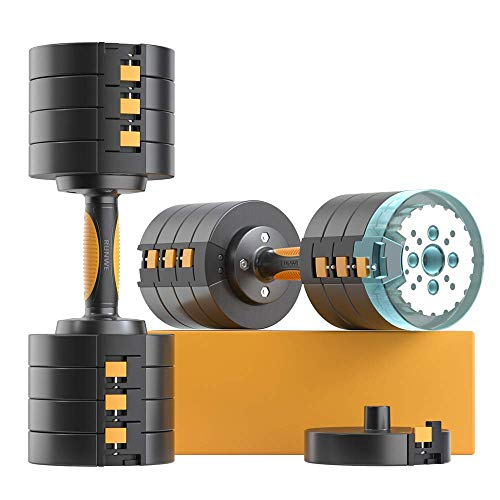 RUNWE Adjustable Dumbbells Sets65 lbs Dumbbells 2x325 lbs Free Weight Sets Workout Weights Dumbbells Set for Home Gym Exercise Fitness