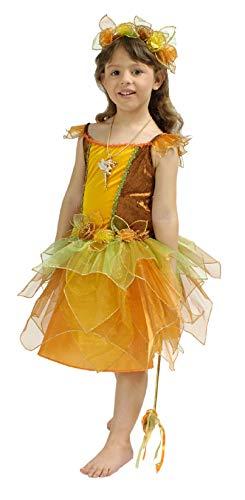 K31250427-116-128 waldfarben Kinder Feen Kostüm Damen Elfenkleid Gr.116-128